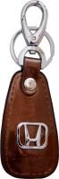 Oyedeal KYCN1053 Honda Leather Metal Locking Key Chain (Brown)
