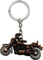 Anishop Royal Enfield Bullet Bike Metal Keyring Key Chain (Cooper)