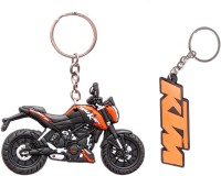 Spotdeal SDL367 SET Of 2 KTM LOGO And KTM Bike Key Chain Key Chain (Multicolor)