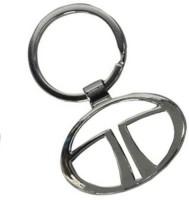 Amor Tata Logo Metal Car Keychain (Silver)