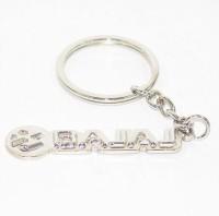 Aura Full Metal Bajaj Bike Logo Key Chain (Silver)