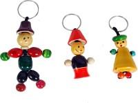 Mnc Key Chains Combo Of(Joker+Bell+Lilliput) Key Chain (Multicolor)