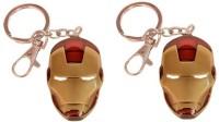 Chainz Pack Of 2 Iron Man Metal Locking Keychain (Multicolor)