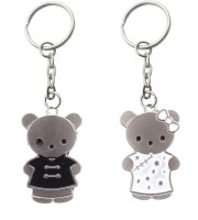 Confident Teddy Couple Keychain (Multi)