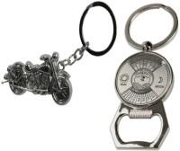 Chainz Chopper Bike And Calendar Bottle Opener Metal Keychain (Silver)