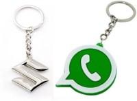 Rashi Traders Maruti Suzuki & Red Black Challa Locking Locking Key Chain (Silver)
