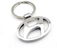 Motoway Hundai Logo Metallic Car & Bike Key Chain (Silver)