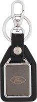 VeeVi Ford Car 2 Tone Premium Leather Locking Key Chain (Multicolor)