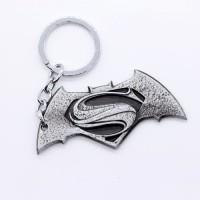 SURAJ ENTERPRISES Batman Superman Silver Grey Matt Finish Metal Key Chain (Silver Grey)