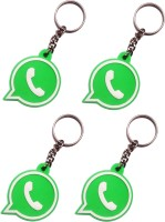 Vibrating Phantom Whatsapp Set Of 4pcs Key Chain (Green)
