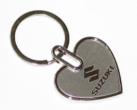 24X7SHOP Maruti Suzuki Full Metal Heart Shape Key Chain (Multicolor)