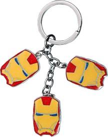 U. R. God Three Ironman Face Metal Key Chain