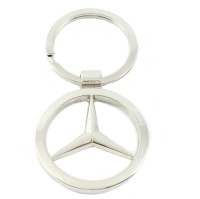 Chainz Mercedes Metal Ring Logo Keychain (Silver)