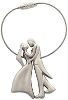 CTW Dancing Love Wire Couple Valenttine Gift Key Chain (Silver)