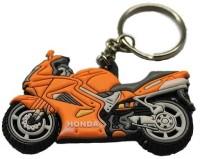 Aura Racer Bike Rubber Key Chain (Multicolor)