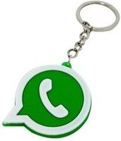 Ezone High Quality Whatsapp Logo Silicon For Car Bike Key Chain (Green)