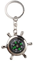 TAG3 Metallic With Wheel Compass Key Chain (Silver)