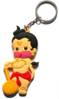 AA Retail Bal Hanuman Double Side Silicone Keychain (Brown, Red)