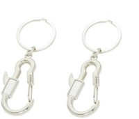 Ezone Hook Pack Of 2 Locking Key Chain (Silver)