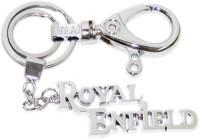 24x7 Shop Royal Enfield Heavy Duty Full Metal Locking Keychain (Silver)