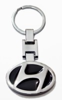 Aditya Traders ATTRACTIVE FULL METAL 'HYUNDAI' CAR LOGO KEYCHAIN Key Chain (black)