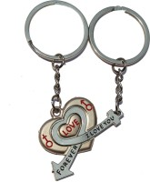 Anishop Special Heart Love Forever Key Chain (Silver)