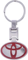 Confident LKKC103 High Quality Metal Toyota Logo Key Chain (Red)
