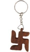 Lehar Toys Wooden Swastik Key Chain Locking (Wooden)