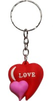 Anishop Cute Heart Shape Key Chain (Red, Pink)