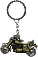 CTW Royal Enfield Thunder Bullet Bike Metal Key Chain (Golden)
