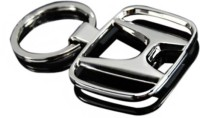 Shop & Shoppee Honda Ring Metal Curved Gate Key Chain (Silver)