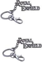 Chainz Pack Of 2 Royal Enfield Premium Metallic Locking (Silver)