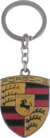 JLT Full Metal Carved Porsche Logo2 Key Chain (Multicolor)