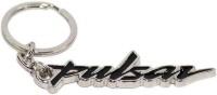 AURA Pulsar Bike Imported Full Metal Key Chain (Black, Silver)