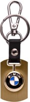 Zeroza BMW Premium Leather Metal BW06 Locking Key Chain (Multicolor)