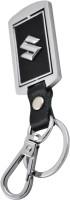 Forty Creek Suzuki Locking Key Chain (Silver, Black)