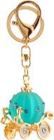 Yellow Chimes Pumpkin Cart Locking Key Chain (Blue, Gold)