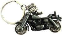Techpro Royal Enfield Bullet Model Key Chain (Metal Silver Color)