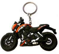 FCS Lucky Bike Ktm Duke Rubber Key Chain (Multicolor)