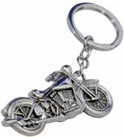 Rudham Bullet Bike Metal Keyring Keychain (Silver)