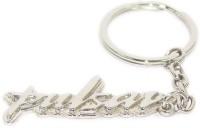 Aura Full Metal Pulsar Bike Logo Key Chain (Silver)