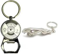 Chainz Calendar Bottle Opener And Metal Jaguar Keychain (Silver)