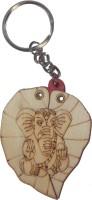 Efficia Wodden Leaf Ganesha Key Chain (Multicolor)