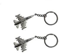 Ezone Metal Aeroplane Key Chain Key Chain (Silver)
