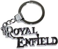 Aura Big Royal Enfield Full Metal Key Chain (Silver)