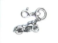 Ezone Styles Bullet Bike Metal Locking Key Chain (Silver)