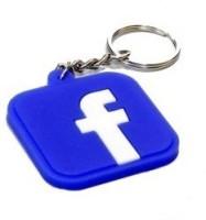 DivineXt Designer Facebook Logo Soft Rubber Key Chain (Blue)
