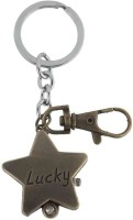 Kairos Designer Lucky Star Pocket Watch Clock Keychain (Brown)