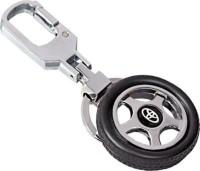 City Choice Toyota Wheel Locking Key Chain (Black & Chrome)