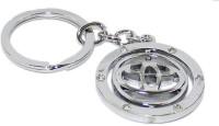 Aura Imported Toyota Revolving Full Metal Key Chain (Silver)